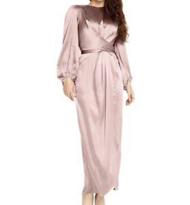 Satin Eid Abaya Maxi Dress