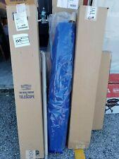 Telescope Furniture Round Commercial Market Patio Umbrella 9' Blue & Silver