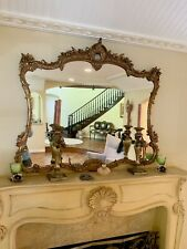 New listing AutH AntiQue Vintage French OrNate Bronze StuNning accent MirroR