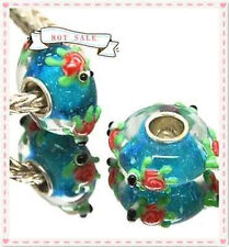 1pcs MURANO GLASS BEAD LAMPWORK Fit European Charm Bracelet DW03 lovely Animal