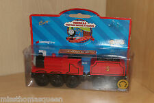 Thomas The Tank Engine Wooden Railway Train JAMES NEW IN BOX VHTF COLLECTORS