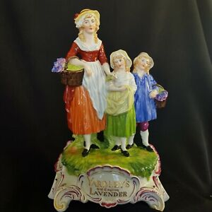 Dresden Germany Antique Yardley Store Advertising Figurine Old English Lavender.