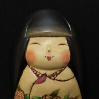 Artistic Japanese sosaku kokeshi doll BY KATO TATSUO 10 1/4inch (26cm)