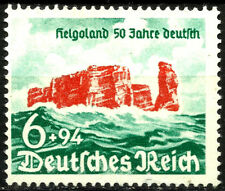 Iii Reich, Helgoland Island, 50 Years German, Year 1940, Mint No Gum, (Su080)