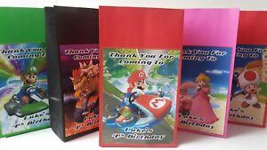 Nintendo Super Mario Kart Personalised Birthday Party Bags