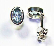 Ohrringe / Ohrstecker aus Silber 925 mit echtem Topas / Sterlingsilber