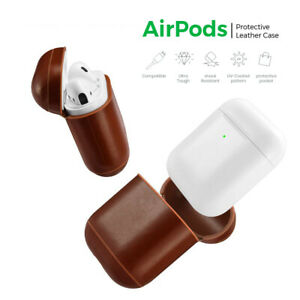 Apple Airpods case Protective Airpods1, 2 Leather Case Earphone Cover for Apple