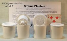 Oyama Planter 1 ½ � white self watering pots miniature African violets Set of 4