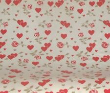 Vtg Gift Wrapping Paper Red Gold Roses Hearts Valentines All Occasion By The YD