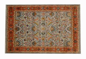 NEW Antique Light Blue Soltanabad Mahal Wool 10x14 Color NEW Rug-1305