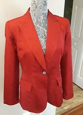 Hilfiger woman's jacket 100% silk scarlet red X-Mas red