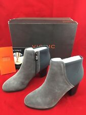 53a846d86950 Vionic Whitney Ankle Boot Size 8 Suede Neoprene Charcoal