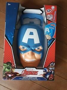 Marvel Avengers Captain America Case with stickers snap band frisbee NEW