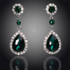 White Gold Plated Statement Fashion Earrings