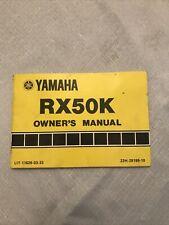 Yamaha RX50K Owner's Manual