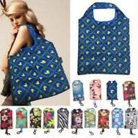 Reusable Foldable Ladies Shopping Bag Eco Animal Tote Handbag Fold Away Premium