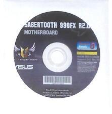 original asus Mainboard Treiber CD DVD Sabertooth 990FX R2.0 WIN 7 8 Windows NEU