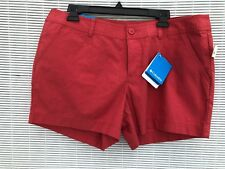 "Columbia Women's Rust Orange Cotton Compass Ridge 6"" Shorts 14 NWT"