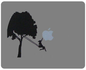' GIRL ON SWING GRABS APPLE FROM THE SKY ' MOUSE MAT suitable for Mac MacBook