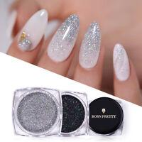 BORN PRETTY Holographic Nail Glitter Powder Laser Nail Art Chrome Pigment Tips