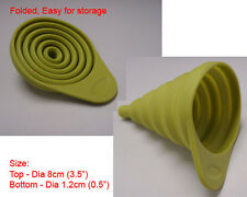 New Silicone Small Collapsible Funnel silicon Kitchen - Green