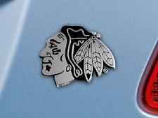 Chicago Blackhawks Heavy Metal Auto Emblem [NEW] NHL Chrome Car Decal CDG