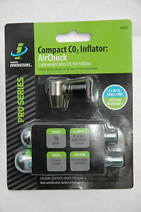 GENUINE INNOVATIONS Airchuck 16g & 20g Compact CO2 Inflator Tire Bike Pump NEW!