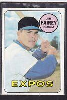 1969  JIM FAIREY - Topps Baseball Card # 117 - Montreal Expos - Vintage