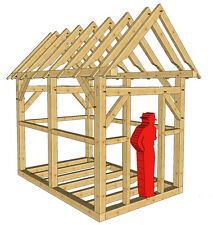 "Timber Frame 8' x 12' Playhouse/Shed Plans on 8 1/2""x11"" paper new"