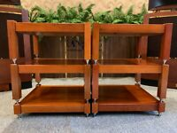 6 shelves, 100% natural ash wood shelves handcrafted for holding amplifiers