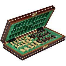 Wooden Travel Chess Set Magnetic Chessmen Folding Board Portable Game Chessboard