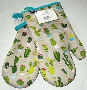 """CACTUS CLUB Oven Mitts  7"""" x 12""""  100% Cotton  Set of 2"""