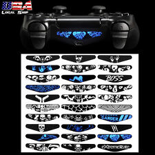 30 Skull Design Light Bar Cover Sticker Skin Decal For PS4 Slim Pro Controller