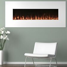 White Electric Fireplace with Color Changing Effects Remote 50 x 21