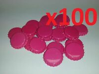100 Raspberry Home Brew Bottle Crown Caps 26mm Very Good Seal Quality FAST P&P