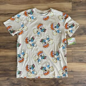 Nickelodeon Rugrats Men's All Over Print T-shirt Tee Size Large L Tommy AOP