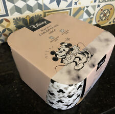 More details for set 4 disney mickey mouse porcelain grey marble effect mug coffee tea cup gift