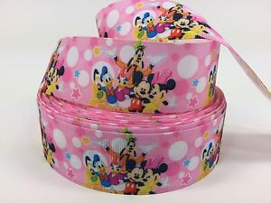 Sale! 4 3/4 Yards 1 1/2 Inch Disney Mickey Friends Grosgrain Ribbon  Lisa