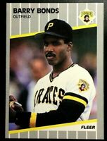 1989 Fleer Baseball Barry Bonds #202 Pittsburgh Pirates