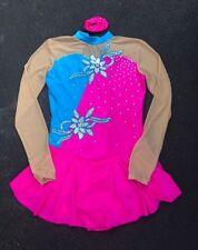 BATON TWIRLING /SKATING COSTUME HOT PINK TWIRLER STRUT RHINESTONES ADULT MEDIUM