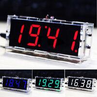 DIY Electronic Clock LED Micro controller Kit Digital Clock Time Control Light__