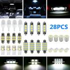 28Pcs Car Interior LED Light For Dome Map License Plate Lamp Bulbs Accessories Alfa Romeo 156
