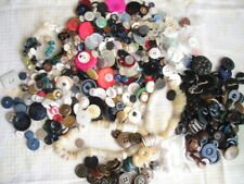 Vintage Buttons Large Lot Sewing Craft Pink Brown Blue Black White Kid