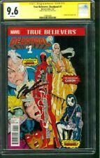 Deadpool 1 True Believer CGC SS 9.6 Rob Liefeld New Mutants 98 reprint X Force