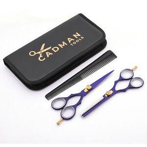 Purple Barber Hair Cutting Thinning Scissors Set Hairdressing Salon Sharp Blades