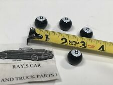 NEW SET OF 4 EIGHT BALL VALVE STEM CAPS ! CAR / TRUCK / BIKES !