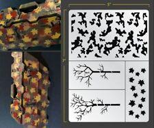 Forest Camo Airbrush Stencil Camouflage Schablonen Maskierung Gestaltung Tarnung