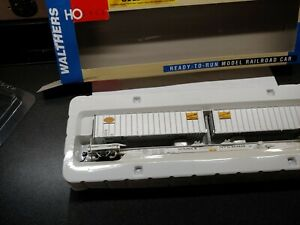 Walthers Gold line HO scale Flexi-Van Flat car w/trailers N.Y.C