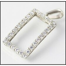 Elegant 9ct White Gold Pendant Encrusted with 28 Simulated Diamonds,Valentines