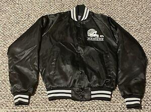 CHALK LINE Jacket Youth 18/20 Los Angeles Raiders Rare VTG Satin 90s LA Oakland